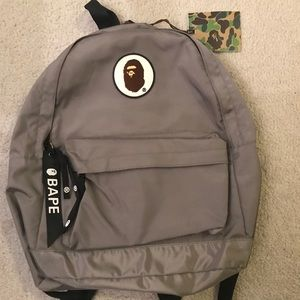 Bape Grey Backpack